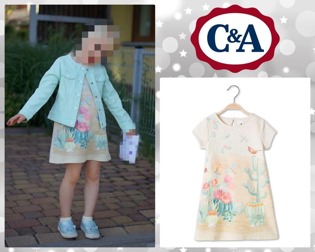 C&A sukienka pastelowa print 110