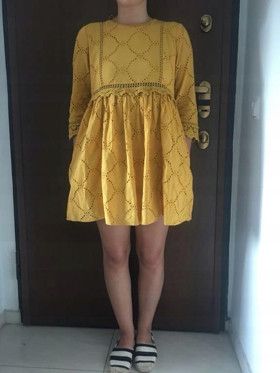 Zara sukienka kombinezon musztardowa M jak nowa