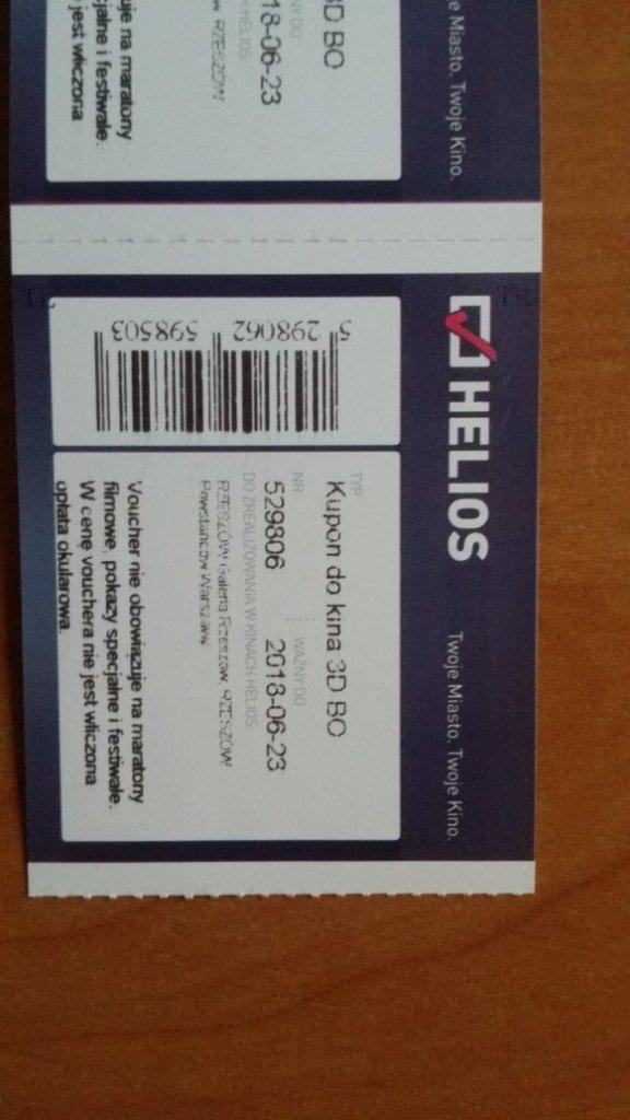 Bilety Kupony Do Kina Helios Rzeszow 7345585885 Oficjalne Archiwum Allegro