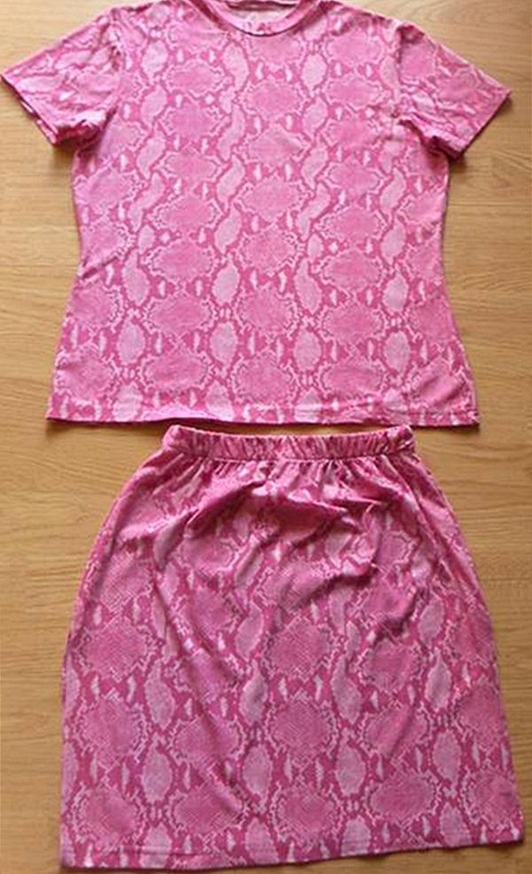 ładny letni komplet spodnica+bluzka rozm38/40