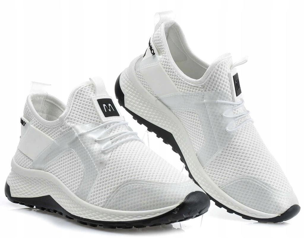 Wsuwane damskie buty sportowe BIAŁE 1733 41