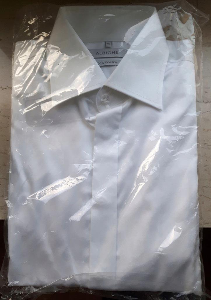 Nowa Koszula Albione 39L, smokingowa, na spinki 7125242355  yF1LN