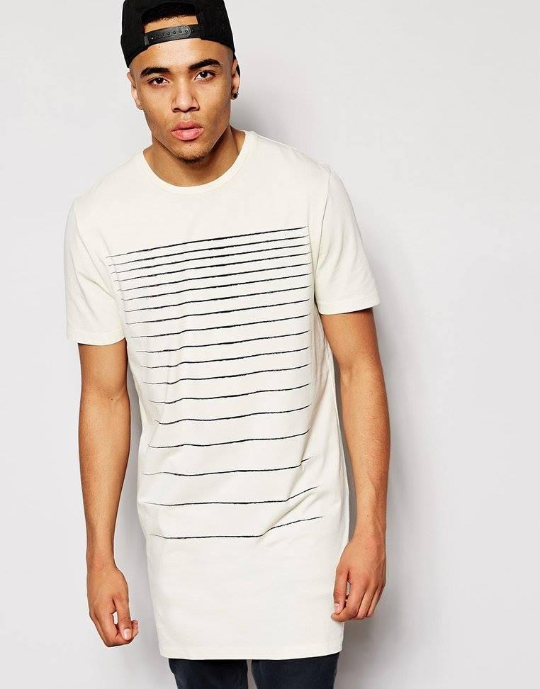ASOS długa koszulka, t-shirt męski rozm. L