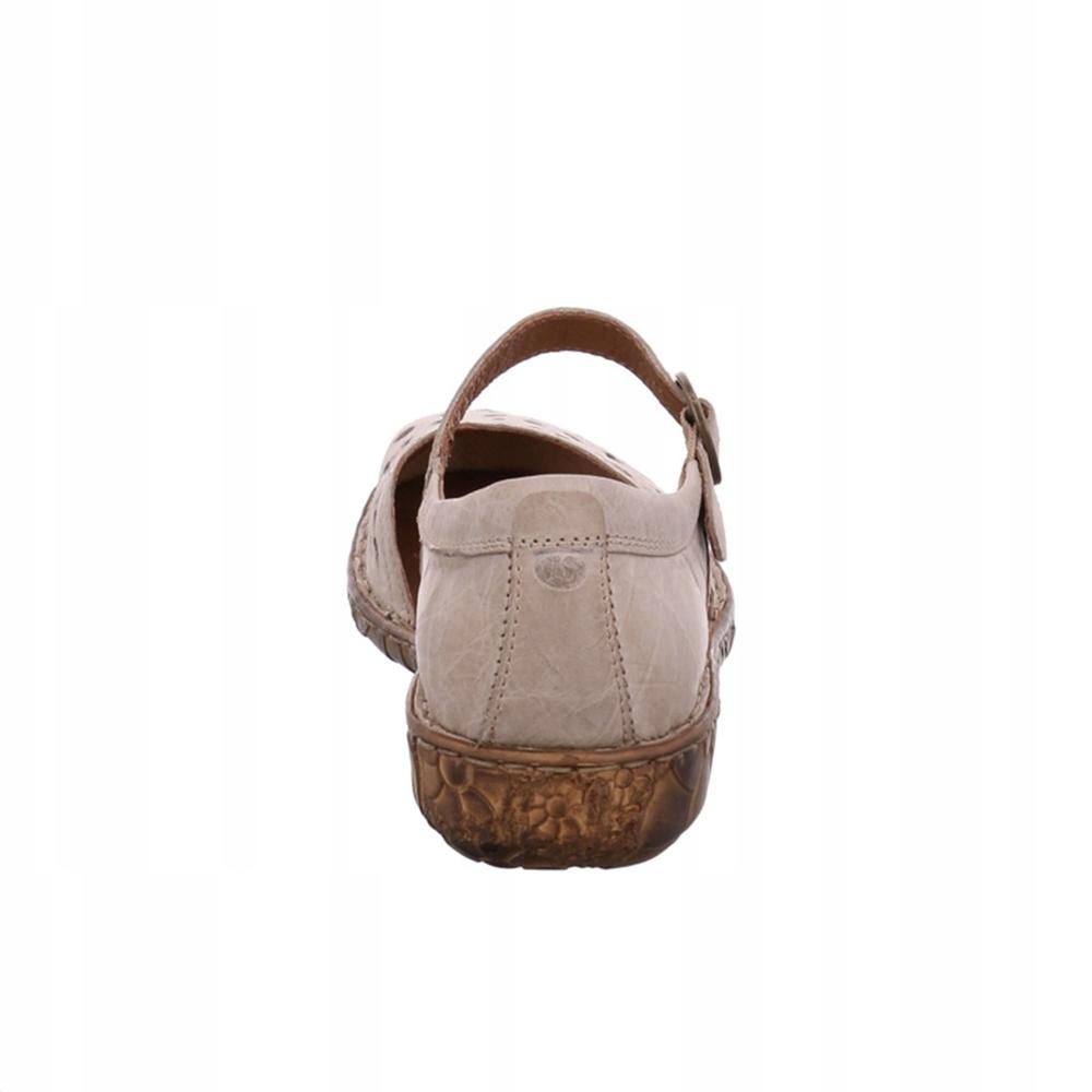 Beżowe sandały damskie Seibel r.44 28,5 cm AŻUROWE