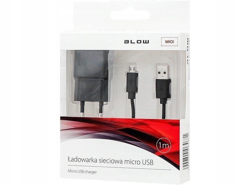 Ładowarka z gniazdem USB 2,1A + kabel microUSB