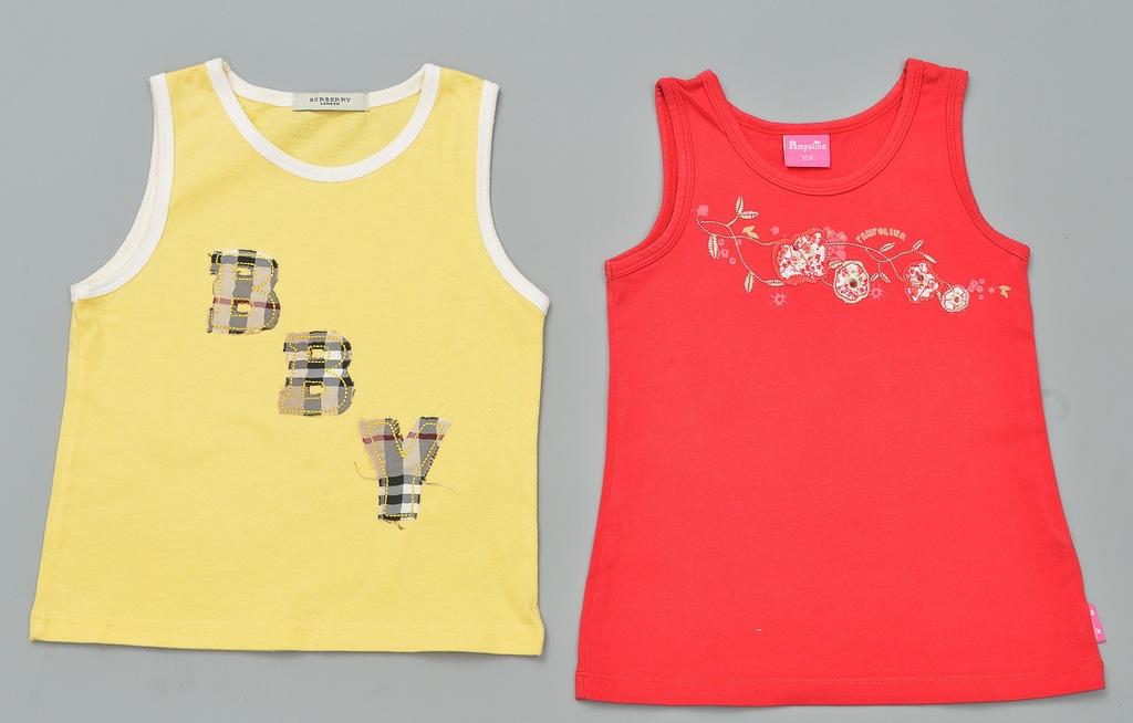 2 koszulki ramiączka burberry pampolina 104/110