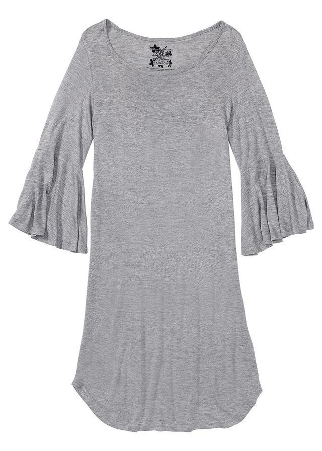 Koszula nocna damska w kropki 34 rękaw szara 5XL