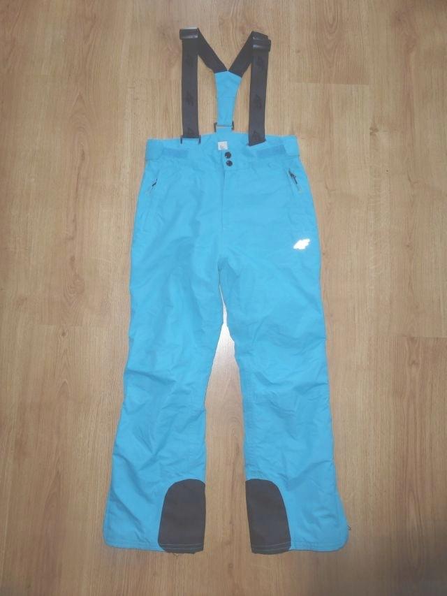 4F Spodnie narciarskie turkusowe bdb 152