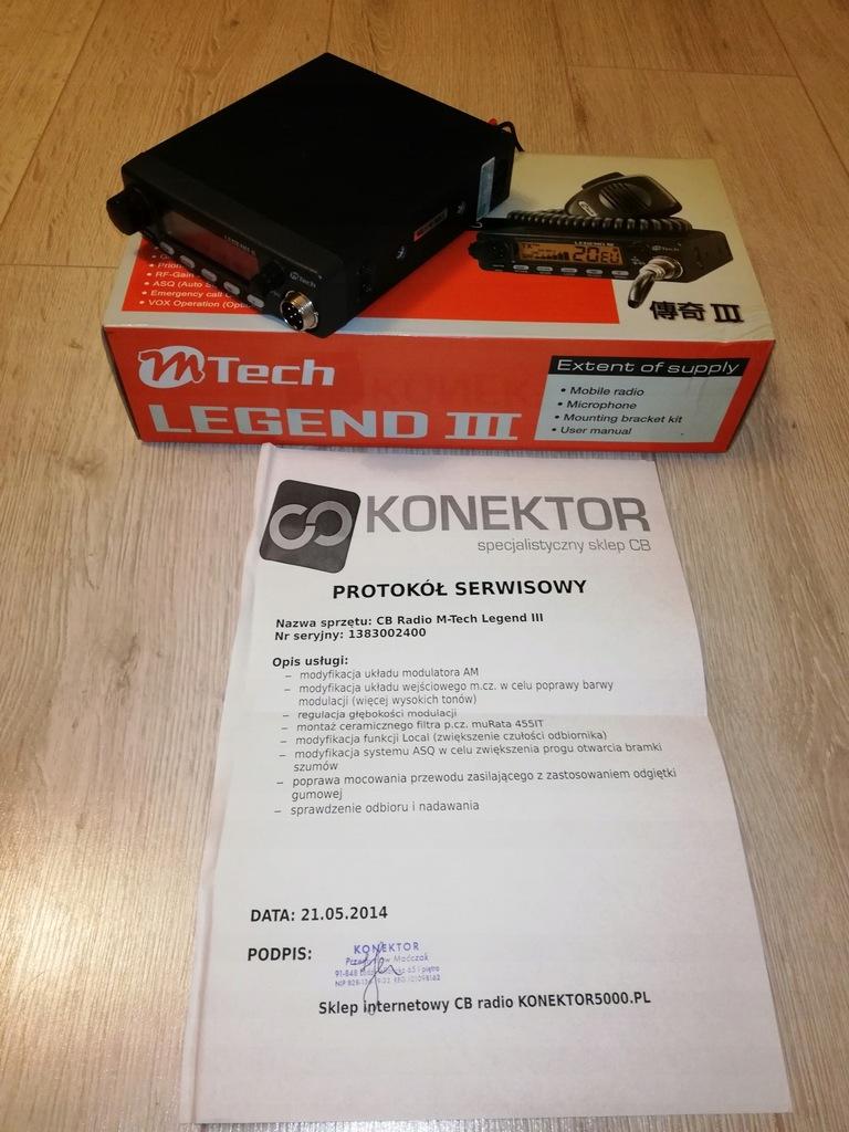 Cb Radio Mtech Legend Iii Tuning Konektor 7536329444 Oficjalne Archiwum Allegro