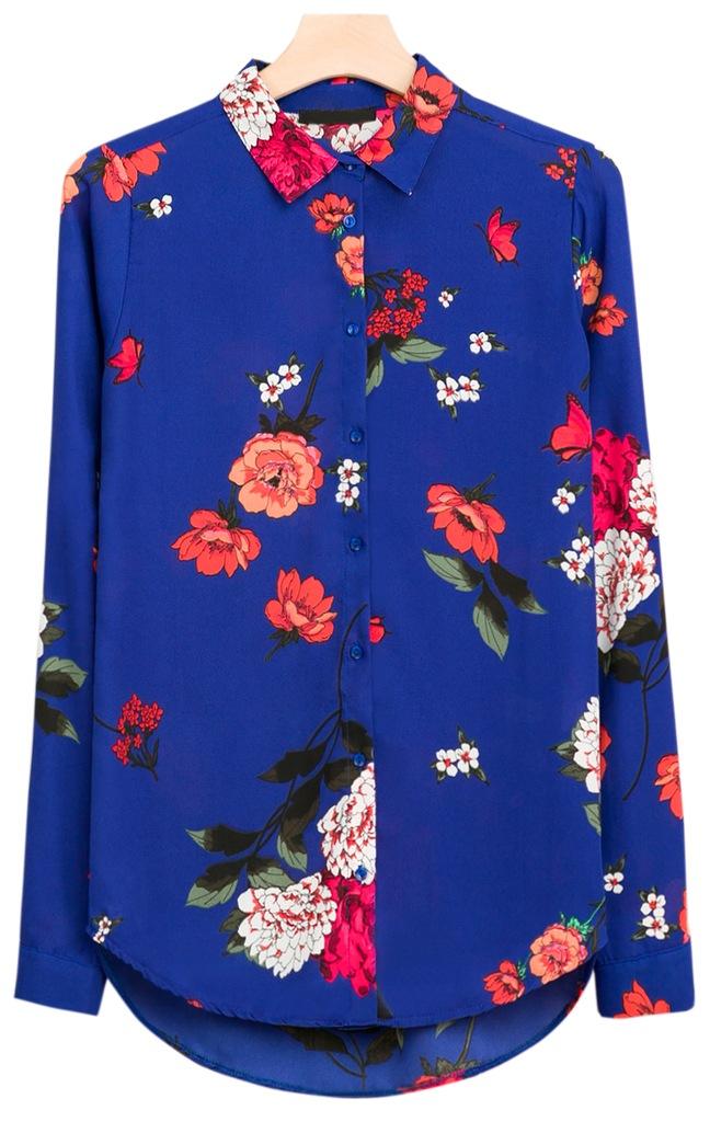 Włoska Duża Bluzka Koszula W Kwiaty 3XL 4XL 46 48 Ceny i