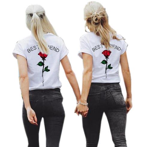 T Shirt Dla Przyjaciolek Best Friend Roza Bawelna 7284042777 Oficjalne Archiwum Allegro