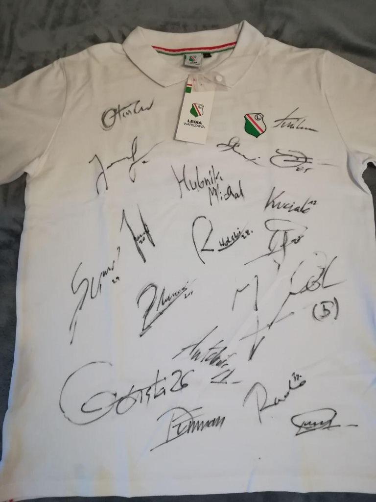 Koszulka LEGIA WARSZAWA z autografami Ljuboja