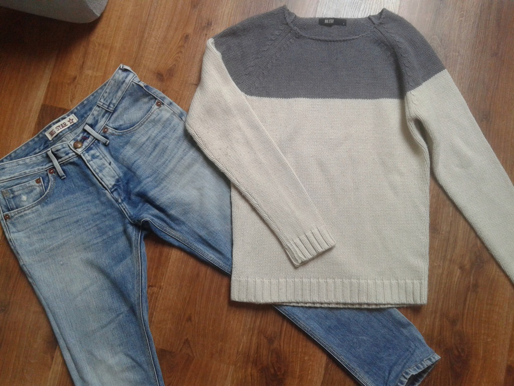 Komplet Big Star spodnie +sweterek M