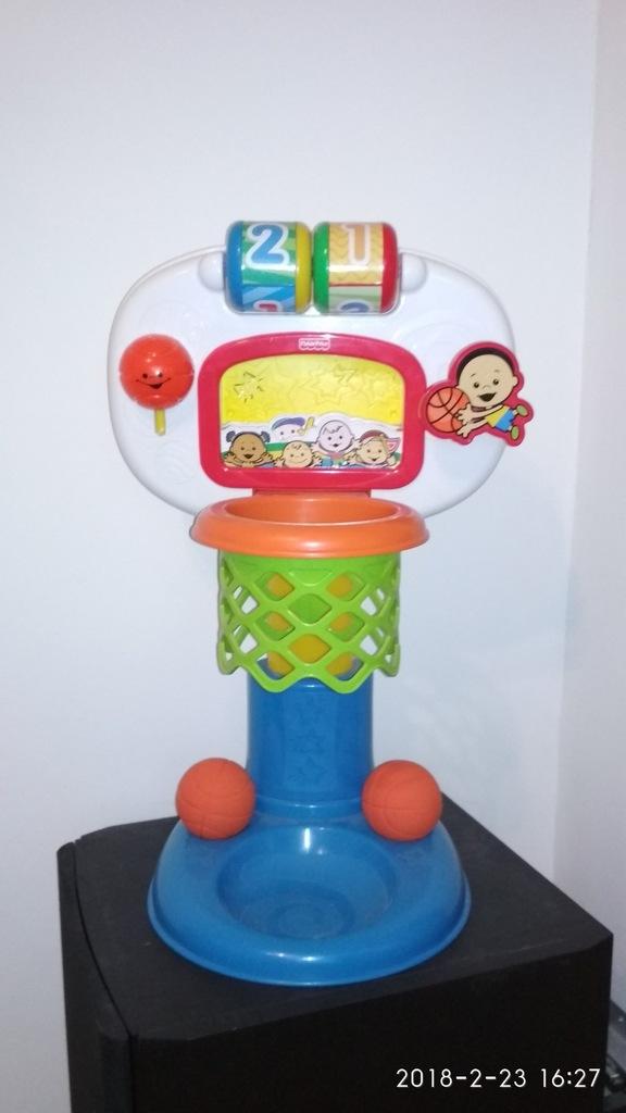 Interaktywny kosz dla dzieci do gry Fisher Price