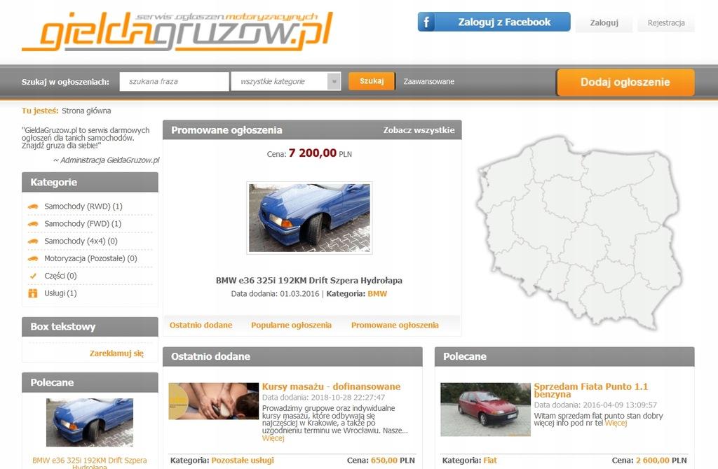 GieldaGruzow.pl - Serwis Ogłoszeń Motoryzacyjnych