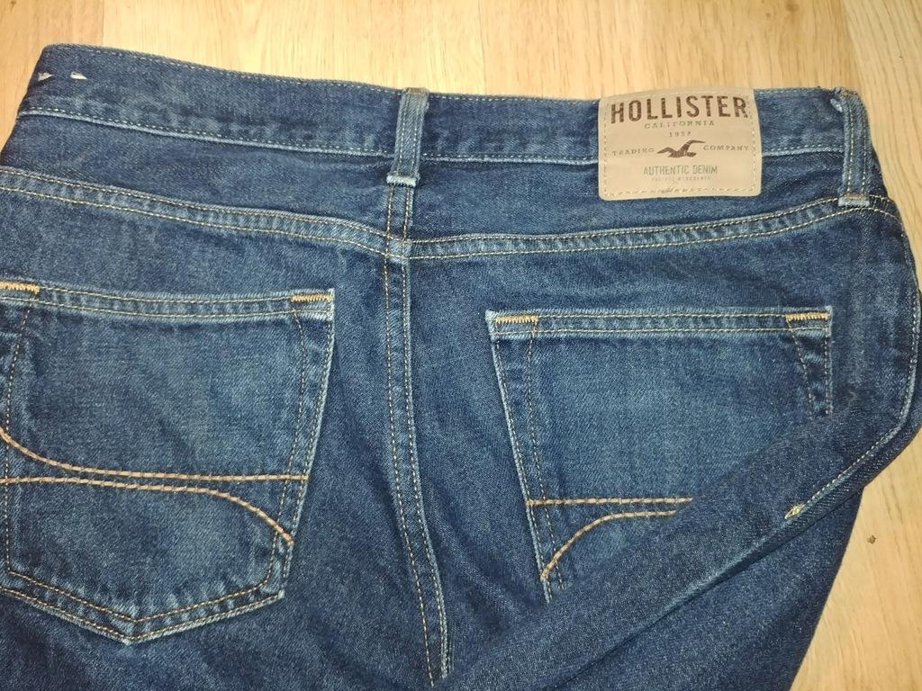 Spodnie męskie jeans slim fit Hollister
