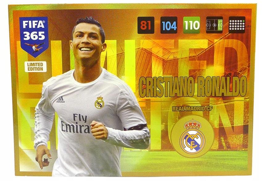 Karty Panini Fifa365 2017 Limited Xxl Ronaldo Duza 7689360753 Oficjalne Archiwum Allegro