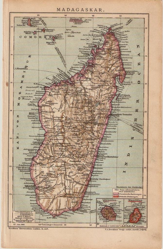 AFRYKA  MADAGASKAR  ROK 1907