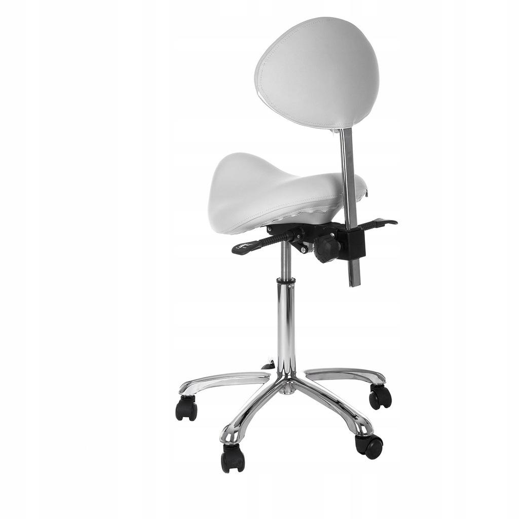 Krzeslo Obrotowe Kosmetyczne Siodlowe Biale Physa 7773286396