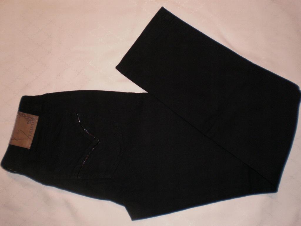 TAIFUN dżinsy damskie - czarne r. 34