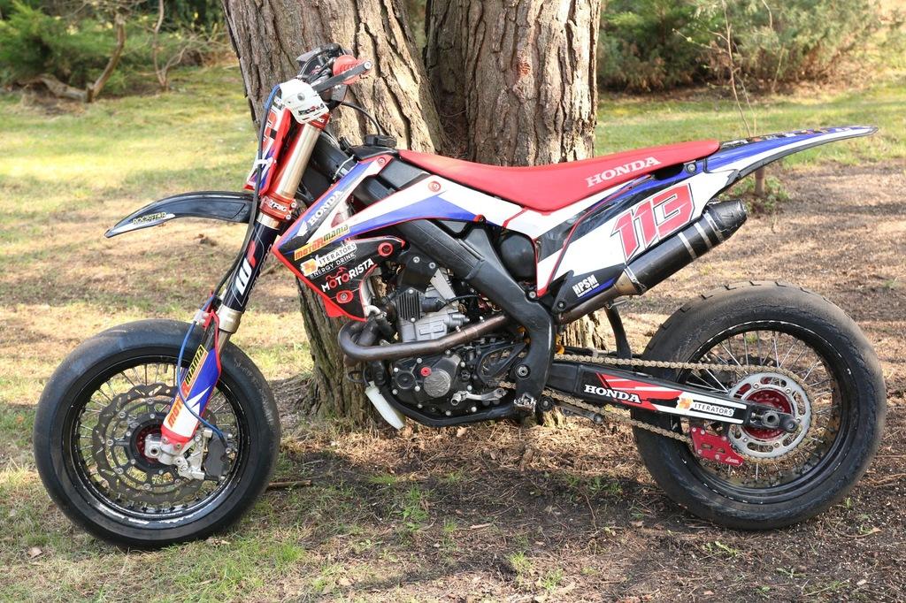 Honda Crf 450 2010 Supermoto 7321558520 Oficjalne Archiwum Allegro