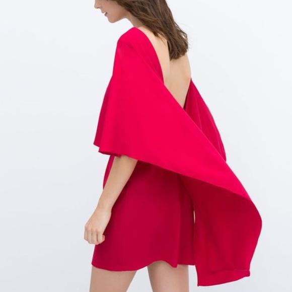bordowa sukienka z odkrytymi plecami zara