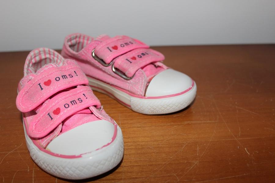 Różowe trampki dla dziewczynki r. 23