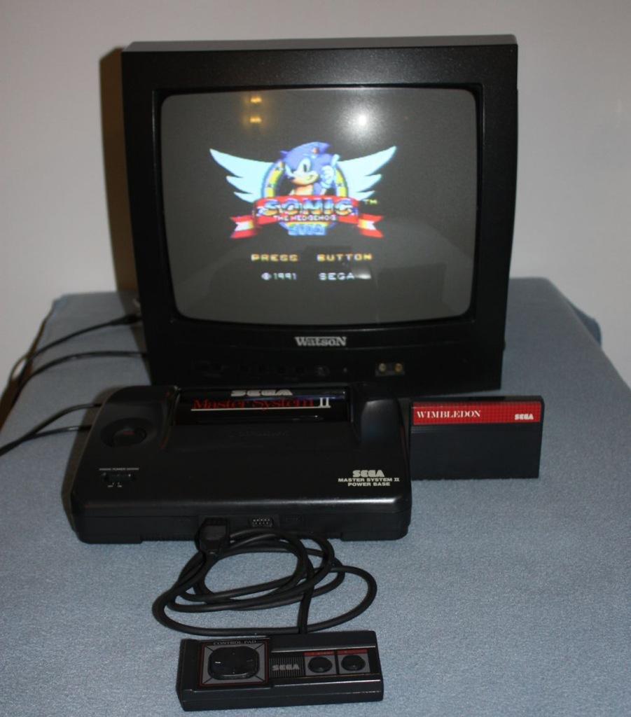 Zadbana Sega Master System II - komplet!