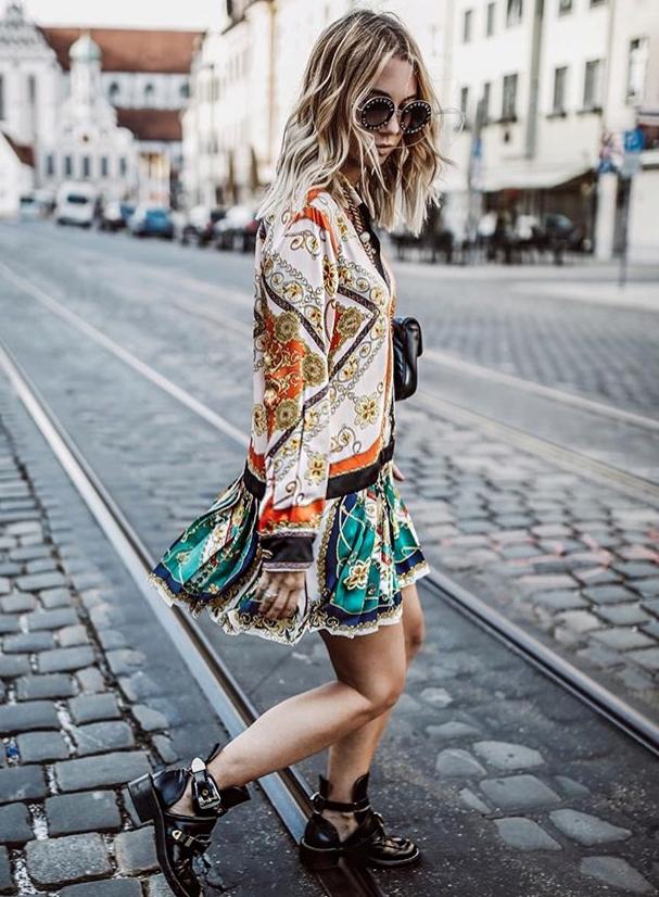 Zara sukienka patchworkowa w łańcuchy S 36