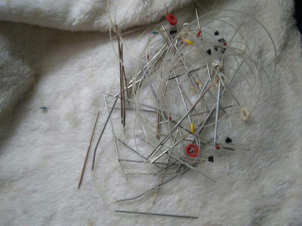 zestaw drut dziewiarskich z żyłka N3