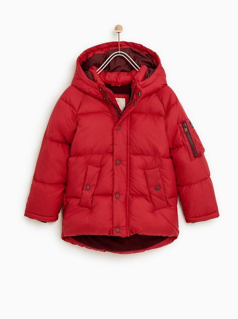 ZARA kurtka zimowa chłopięca 134,9l