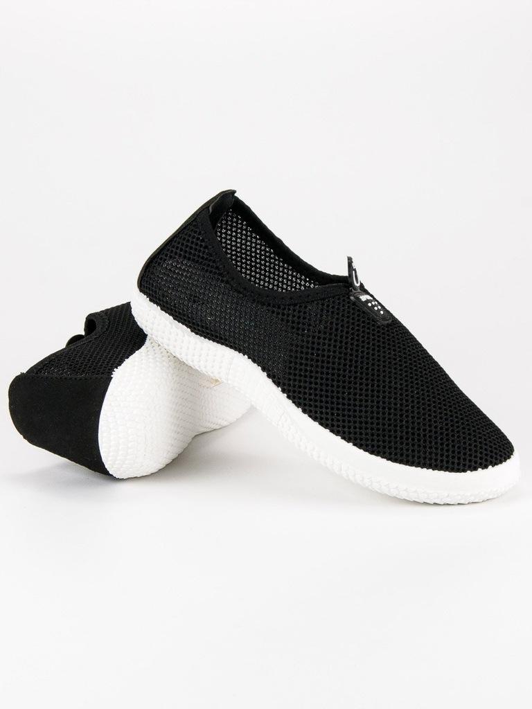 38 WSUWANE BUTY SPORTOWE pantofle sportowy czarne