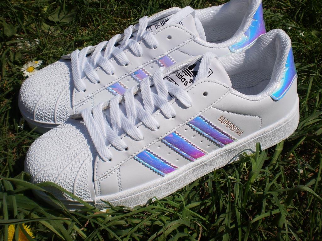 Adidas Superstar Rozmiar 39. Białe Hologram. BUTY DAMSKIE