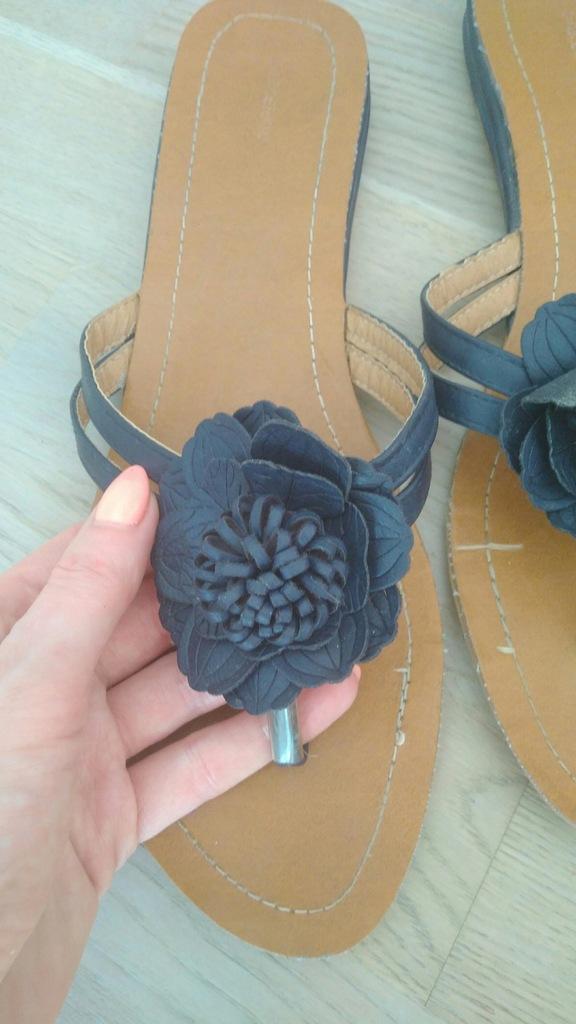 DUŻE japonki sandałki damskie Graceland 42 27,5cm