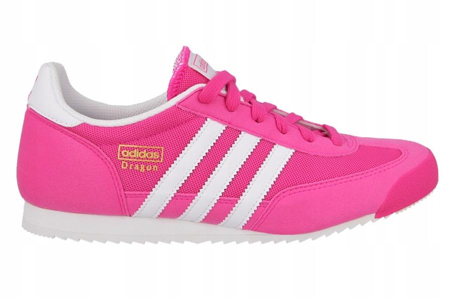 Buty damskie adidas Dragon J S74827 różowy biały