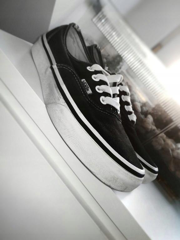 buty vans vansy czarne 38,5