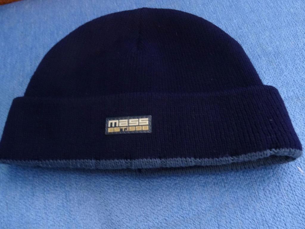 Granatowa czapka zimowa MASS, B3, Clinic Okazja