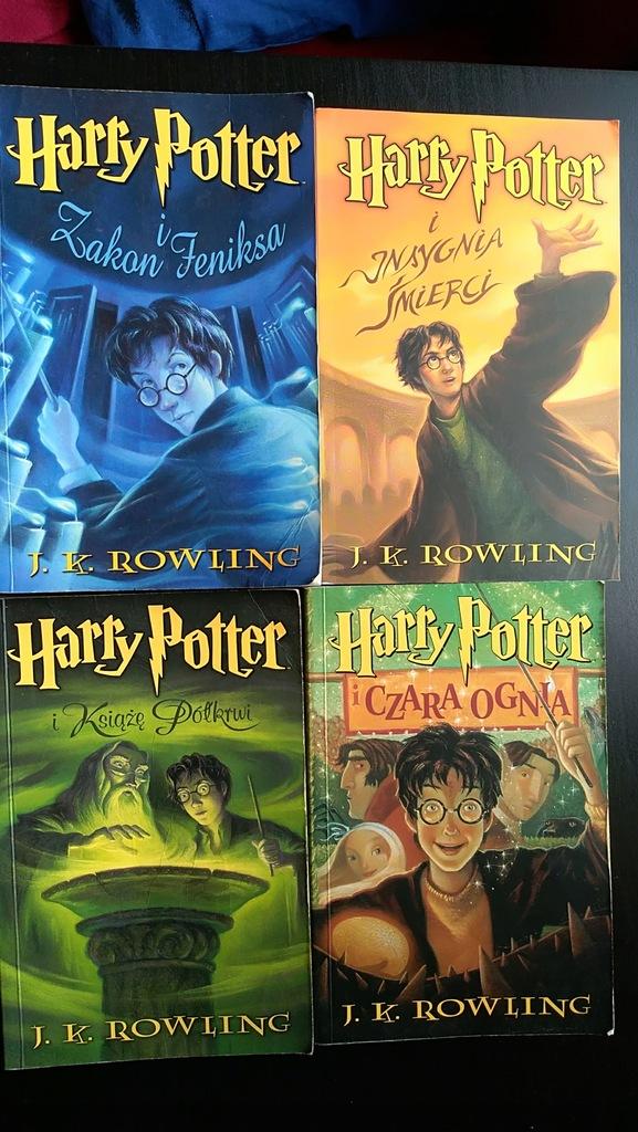 Rowling Harry Potter 4 Czesci 7481942599 Oficjalne Archiwum Allegro