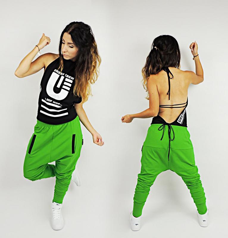 Dresy Damskie L Do Tanca Hip Hop Joggery Fitness 7546320649 Allegro Pl