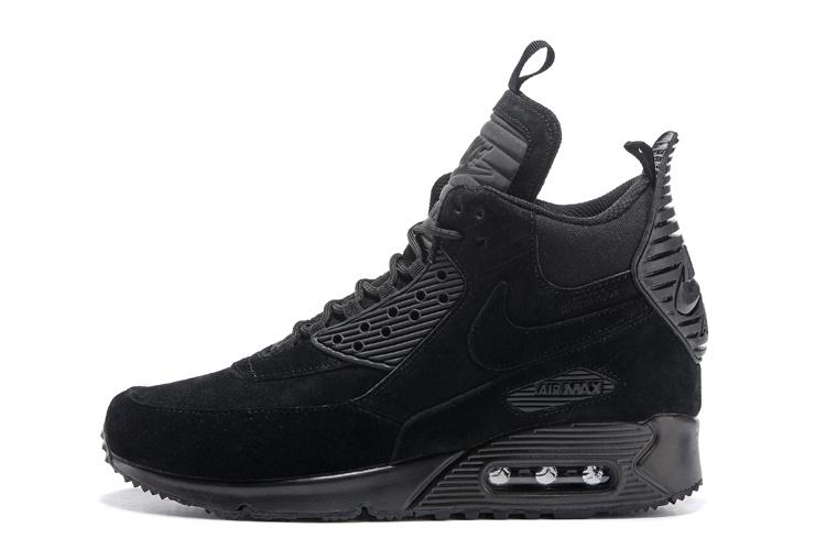 buty damskie nike air max 90 sneakerboot czarne