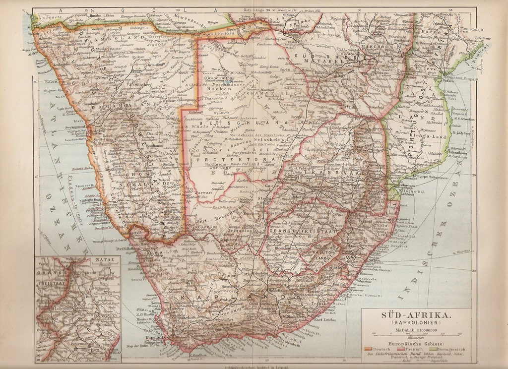 RPA BOSTWANA RODEZJA NAMIBIA 1892 R