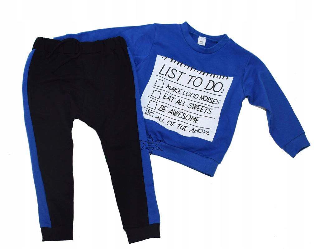 Komplet , dres chłopięcy bluza spodnie SWETTY 116