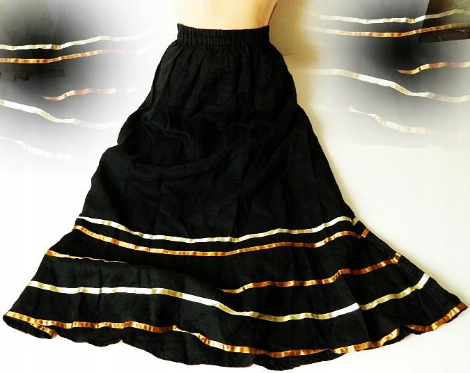 Oryginalna długa maxi indyjska spódnica boho 38