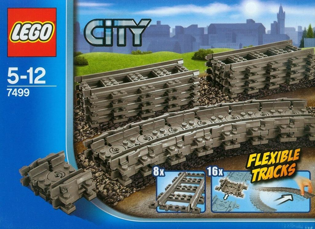 19BUT4 LEGO CITY TRAINS FLEXIBLE RAILS 7499
