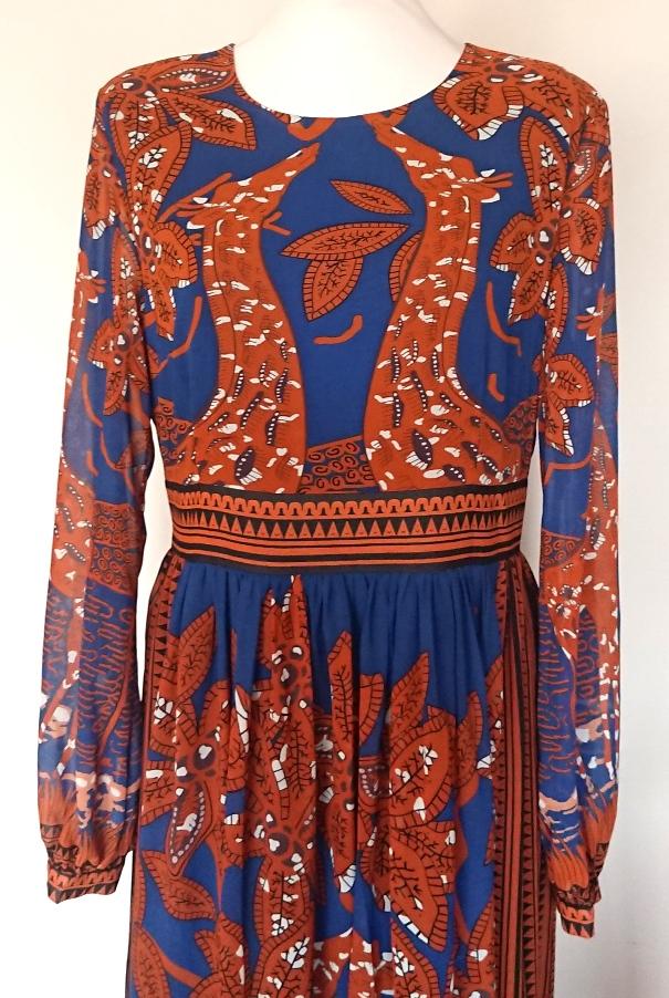 Sukienka Floryday maxi żyrafy 38 40 etno boho