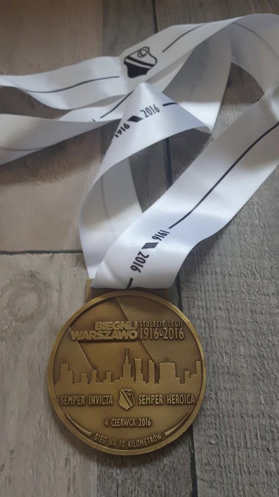 medal BIEGNIJ WARSZAWO 2016