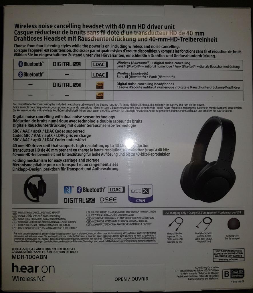 bezprzewodowe słuchawki mdr 100abn