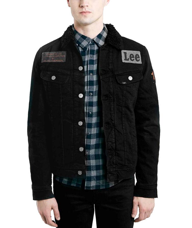 czarna kurtka jeansowa męska lee
