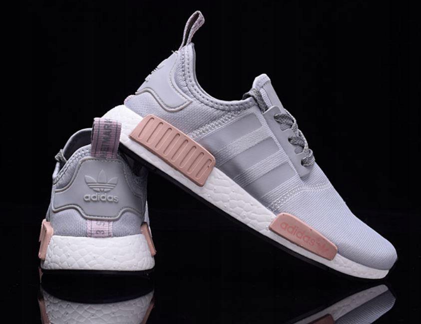 Adidas NMD R1 runner buty szaro różowe 38