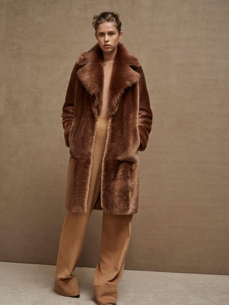 Massimo Dutti Limited Edition lux unikat kożuch XS